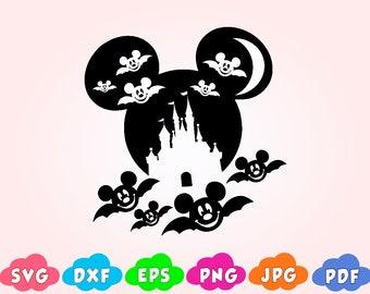 Disney Halloween Svg Bundle Halloween Mickey Mickey Mouse Etsy
