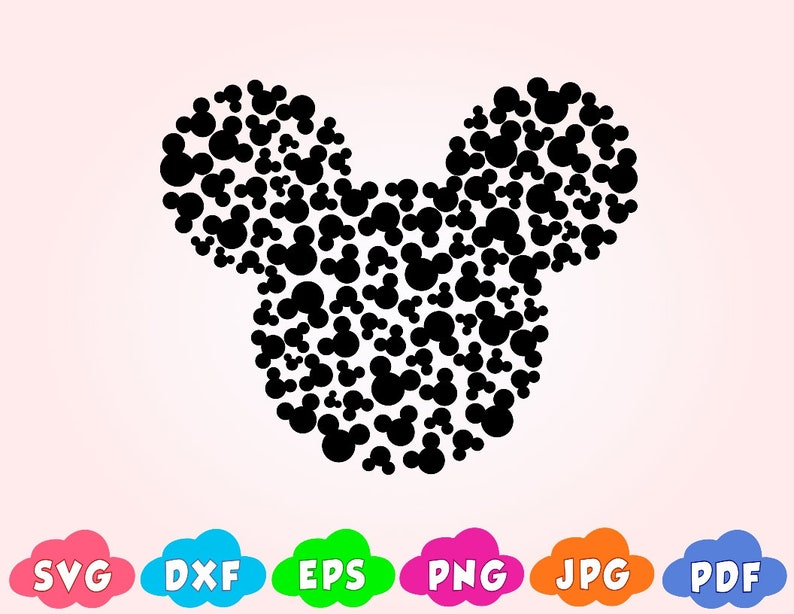 mickey mouse silhouette template.html