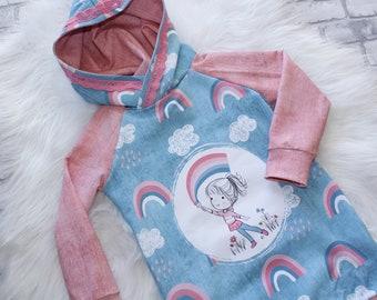 Longhoodie, Girls' Sweater, Hooded Shirt