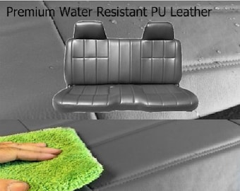 Premium PU Leather Thick Molded Headrest Front Solid Bench Seat Cover A25 Exact Fit for Toyota Pickup 1985 - 1995