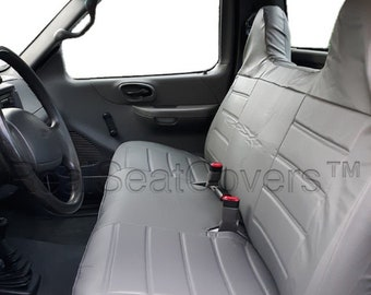 Seat Cover for Ford Full Size F-Series F150 F250 F350 F450 F550 Front Solid Bench with Molded High Back Headrest