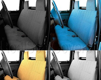 RealSeatCovers Seat Cover for Toyota Pickup 1984-1989 Front Bench Thick A25 Molded Headrest Small Notched Cushion Beige, Tan