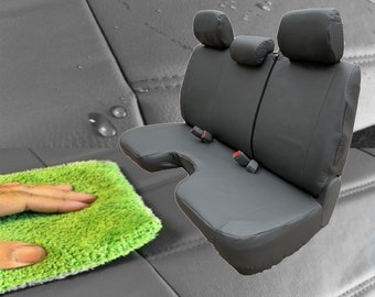 Seat Covers for Toyota Tacoma 100% Waterproof Neoprene 3 Adj. Headrest Large Bench Cutout A30 Front Solid Bench