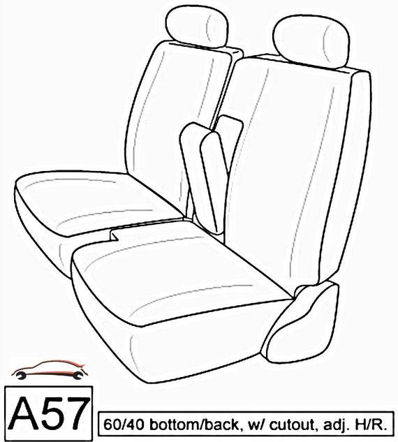 Fantastic Seat Cover For Toyota Pickup 1990 1995 Front 60 40 Split Bench A57 Adjustable Headrest Ibusinesslaw Wood Chair Design Ideas Ibusinesslaworg