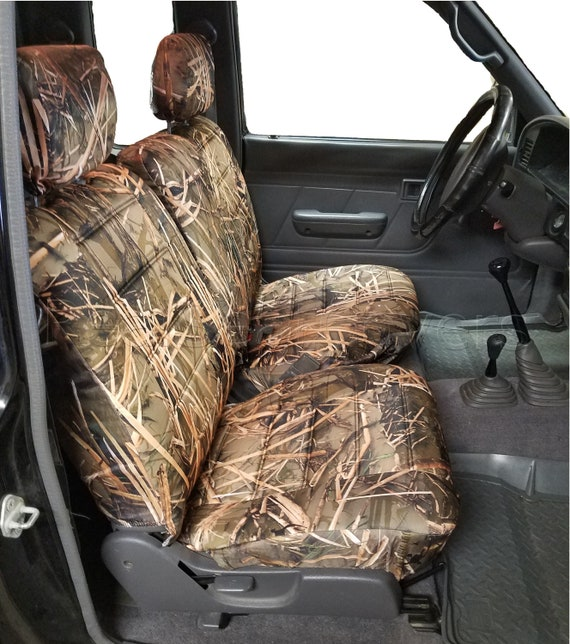 Cool Muddy Water Camo Seat Cover For Toyota Tacoma 1995 2000 Front 60 40 Split Bench A67 Adjustable Headrest Machost Co Dining Chair Design Ideas Machostcouk