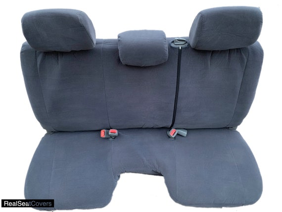Gray PU Leather RealSeatCovers for 1990-1995 Front 60//40 Split Bench Thick Padding Custom Made Exact Fit Seat Cover for Toyota Pickup A57