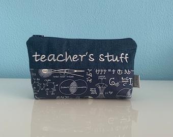"Pencil case ""Math"", blue"