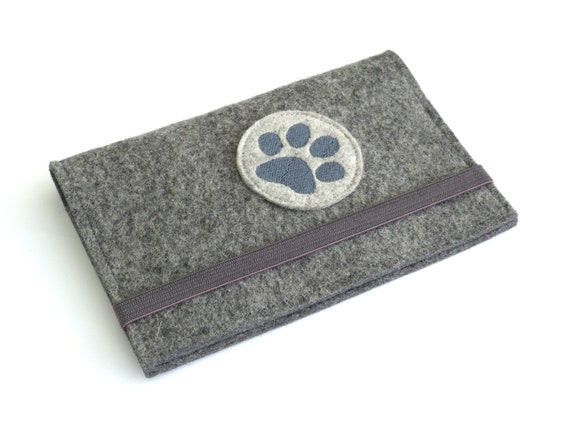Cover Pet Card Wool Felt Sleeve Vaccination Card Wool Felt Dog Accessories Veterinarian Agility Dog Cover Pet Dog Id Pet Passport Dog