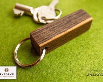 Keychain Bocote grained
