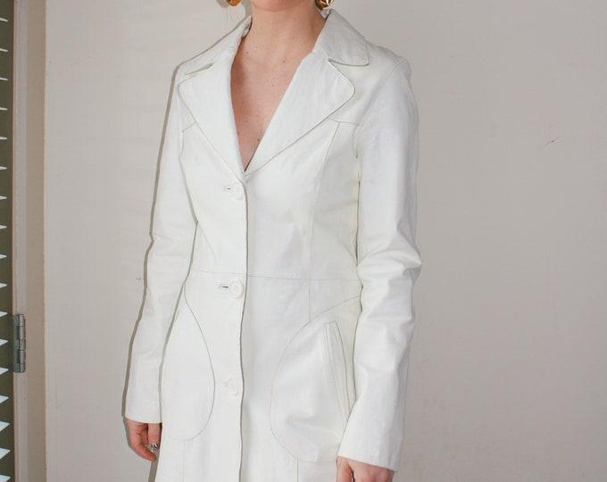 Vintage Wilsons Leather Coat - White