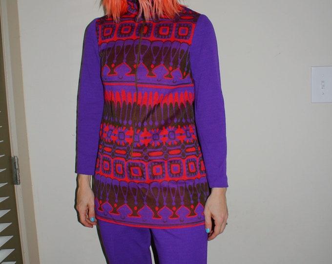 Vintage 60s | Purple Pant Set