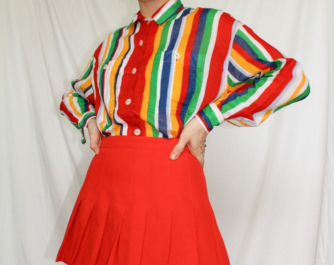 Vintage | Head Sportswear Red Pleated Mini