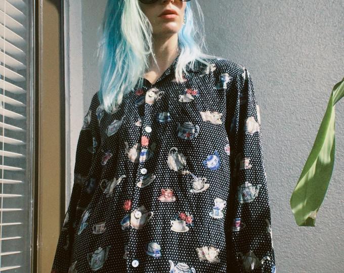 Vintage 80s | Teatime Silk Blouse
