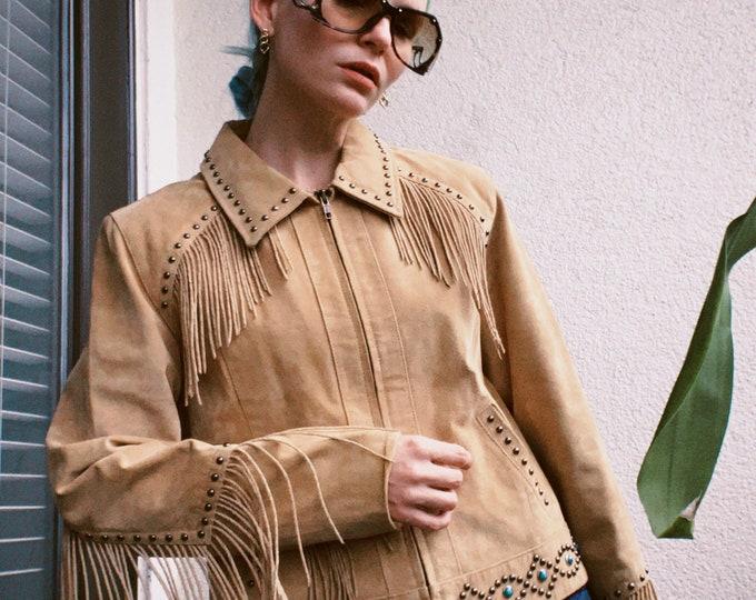 Vintage Scully Suede Fringe Jacket