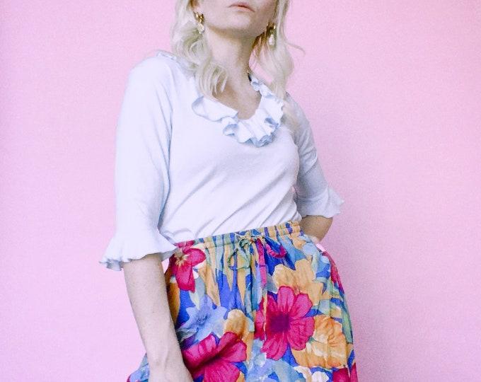 Vintage Rayon Floral Shorts