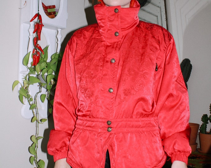 Red Rose Puffer Jacket