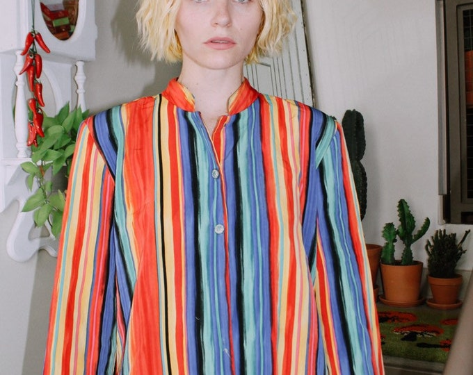 Rainbow Stripe Blouse