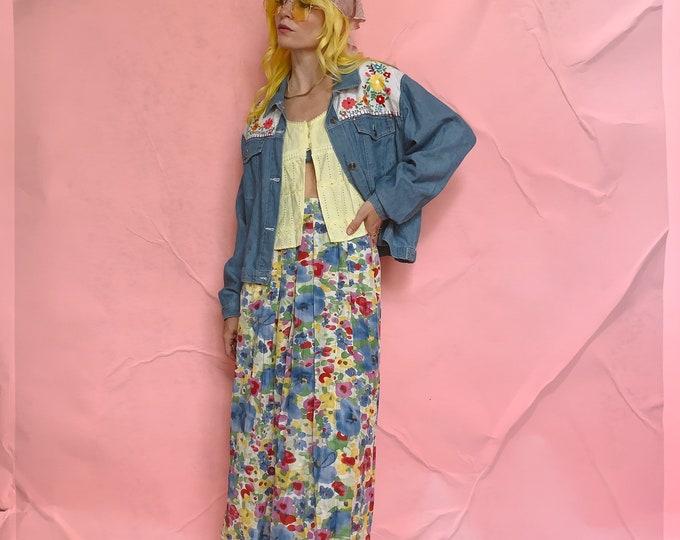 Silk Geiger Flora Midi Skirt