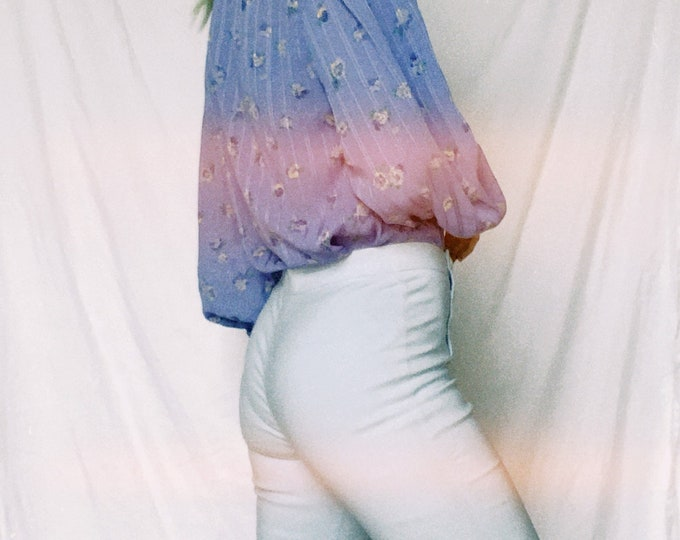 Vintage 90s | Baby Blue Stretch Pant
