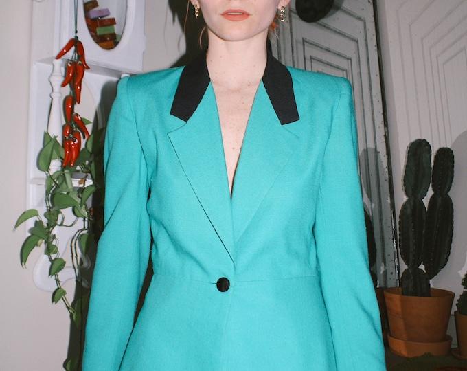 Femme Turquoise 80s Blazer