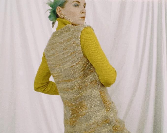 Vintage 90s | Longline Marbled Sweater Vest