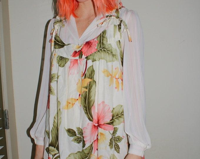 Vintage | Floral Free Size Mumu Dress
