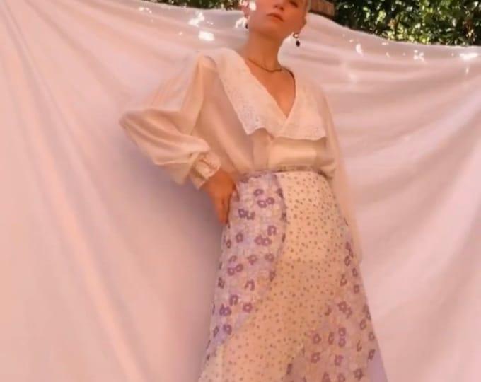 Vintage 90s | Patchwork Floral Print Skirt
