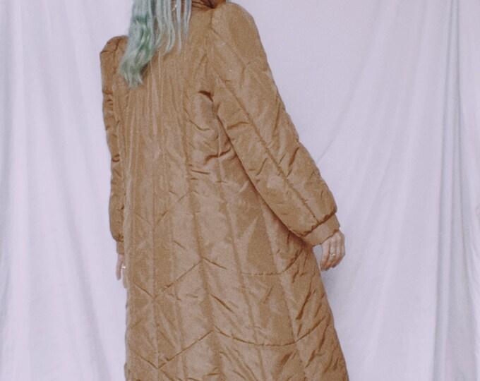 Vintage 80s | Tan Puffer Coat