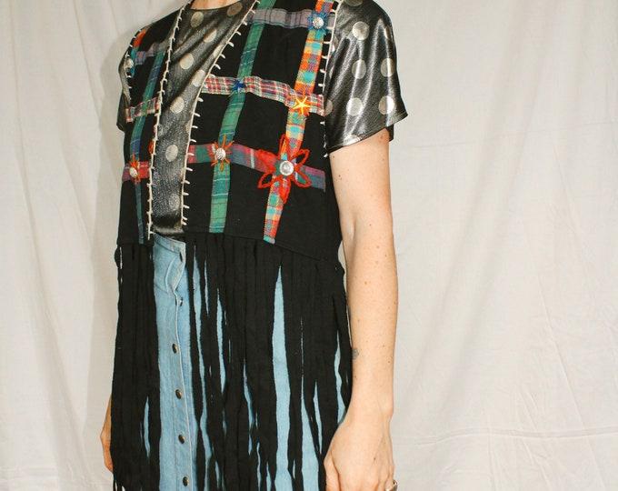 Vintage   Bedazzled Fringe Vest