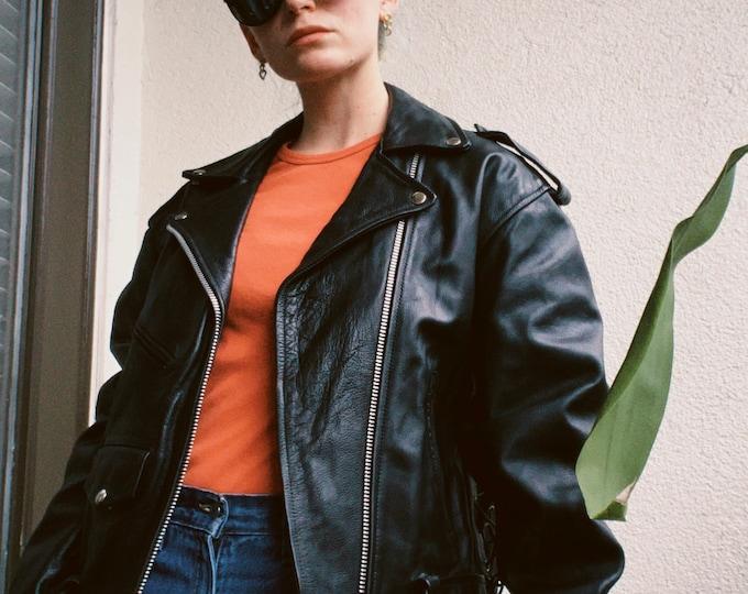Vintage UNIK Black Leather Jacket