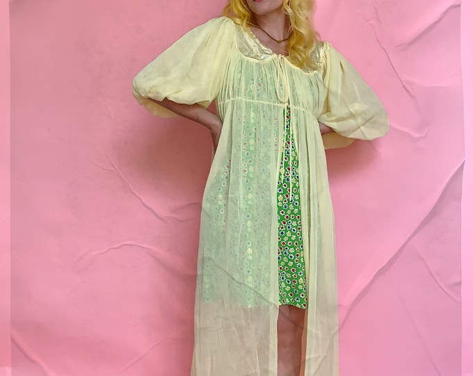Yellow 60s Dressing Gown