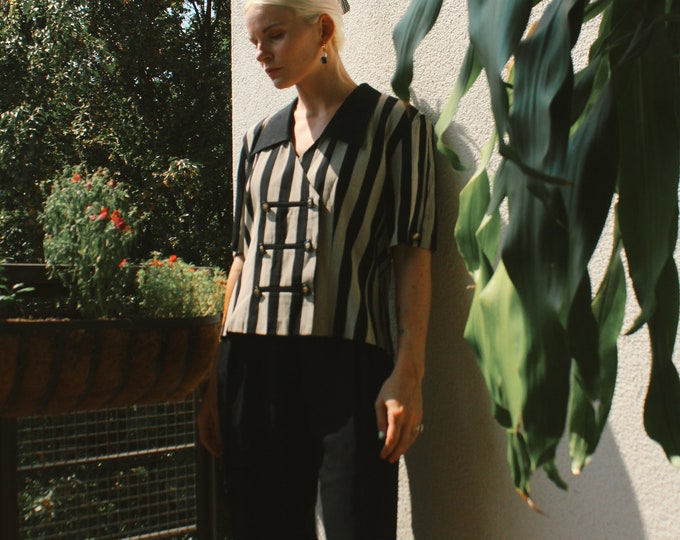 Vintage 80s | Stripe Pant Set
