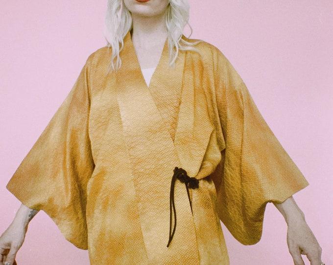 70s Mustard Overdyed Kimono