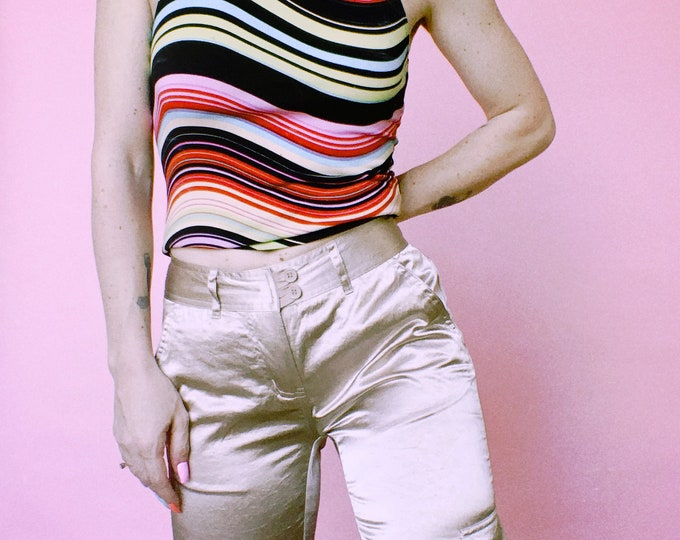 Vintage y2k | Satin City Streets Cargo Pants