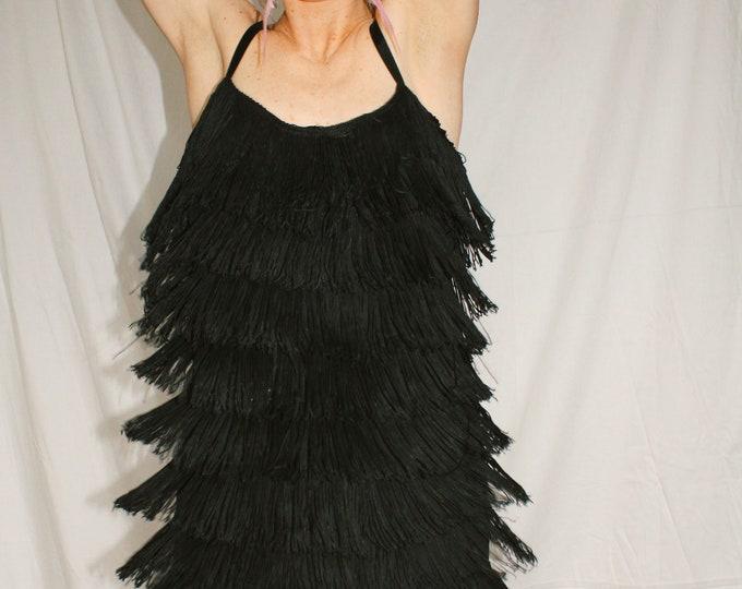 Vintage | Fringe Flapper Style Dress