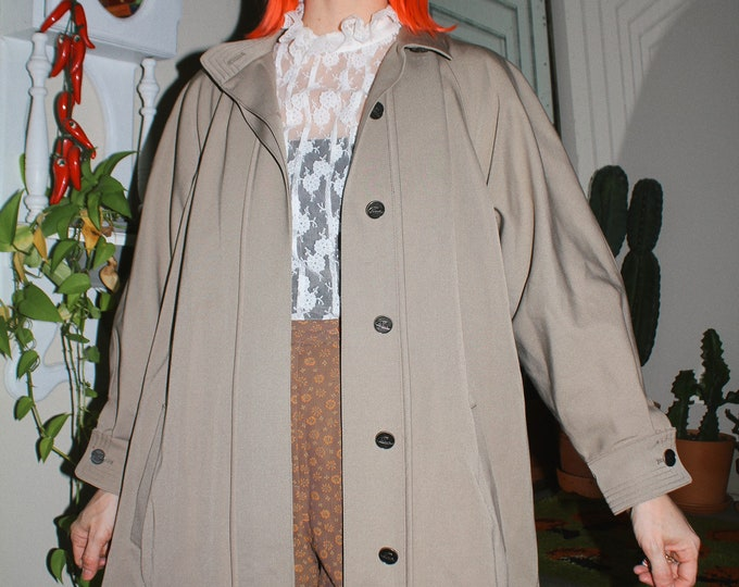 Vintage 70s | Taupe Swing Coat
