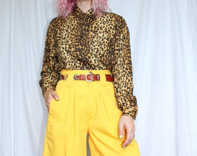 Vintage 80s | Sunshine Yellow Mom Shorts