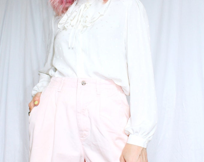 Vintage 80s | Pale Pink Lee Mom Shorts