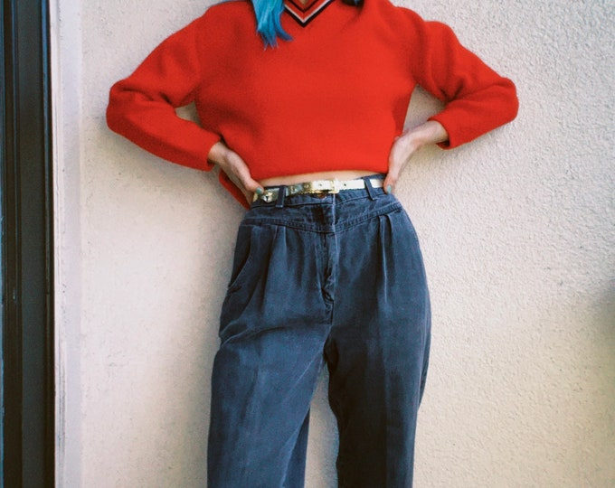 Vintage 80s | Levi's Juniors Ash Tapered Mom Jeans