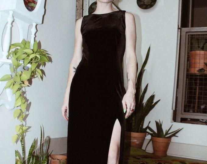 The Meg - Black Velvety Dress