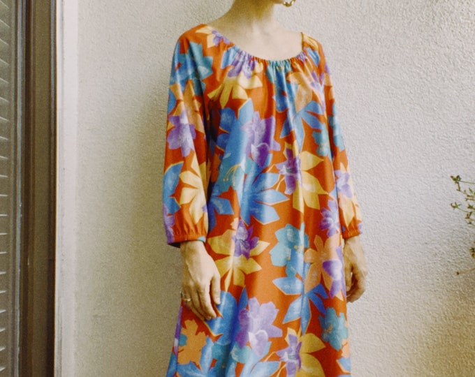 Vintage 70s | Colorful Poly Maxi