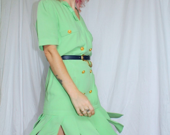Vintage 80s | Sea Foam Green Escada Dress