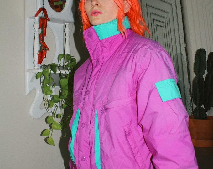 80s Nylon Puffer Jacket