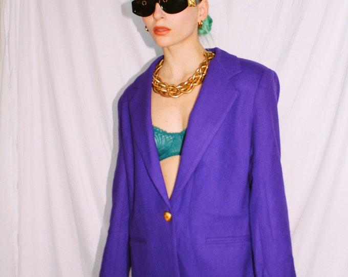 Vintage 80s | Violet Wool Blazer