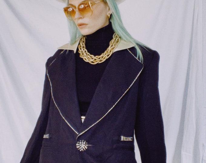 Vintage 80s | Black Snazzy Blazer