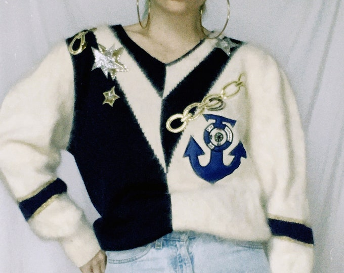 Vintage 80s | Nautical Sweater