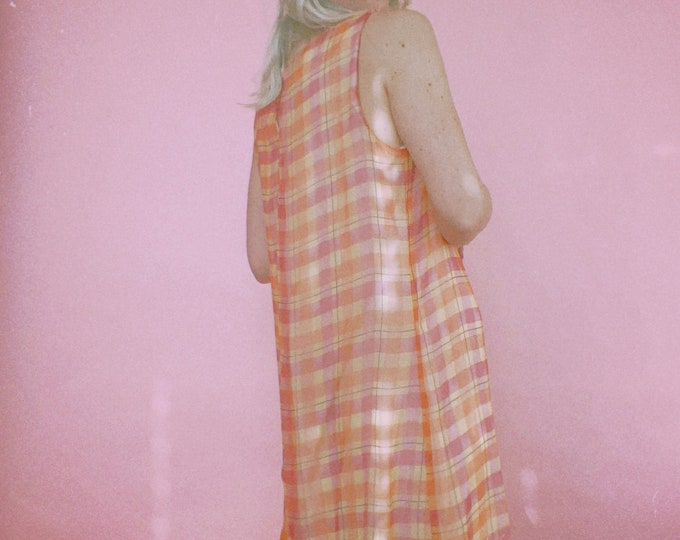 Vintage 90s | Check Dress