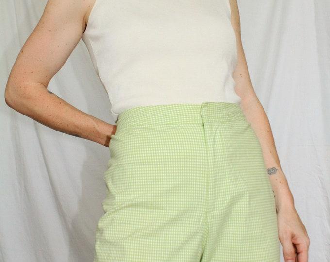 Vintage | Liz Claiborne - Green Gingham Shorts