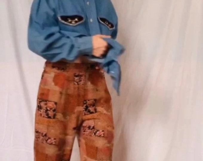 Vintage 90s | Printed Trousers