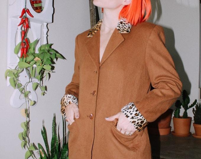 Leopard Trim Blazer